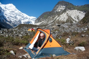 Alberto at Base Camp with Pandim