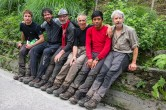 The end of expedition, after the forest: Francesco, Davide, Alberto, Andrea, Cesar ed Enrico